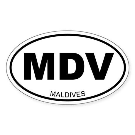 Maldives Oval Sticker