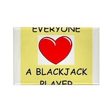 blackjack Rectangle Magnet