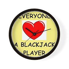 blackjack Wall Clock