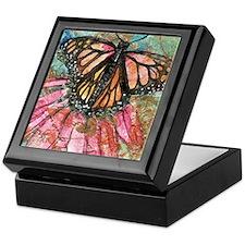 Orange Butterfly Fairy Keepsake Box