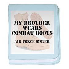 AF Sister Brother Wears DCB baby blanket