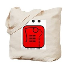 RED Electric EARTH Tote Bag