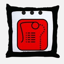 RED Electric EARTH Throw Pillow