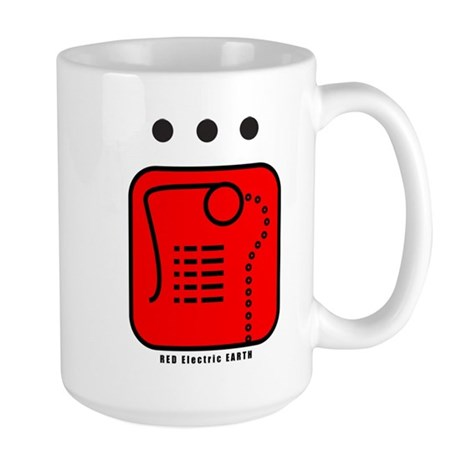 RED Electric EARTH Large Mug