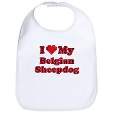 Love My Belgian Sheepdog Bib
