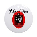 Poker Diva Ornament (Round)