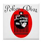 Poker Diva Tile Coaster