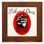 Poker Diva Framed Tile