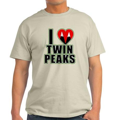 I Love Twin Peaks Light T-Shirt