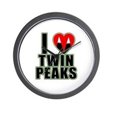 I Love Twin Peaks Wall Clock