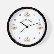 Havanese Wall Clock