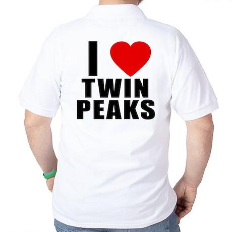 I Heart Twin Peaks Golf Shirt