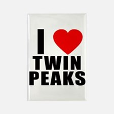 I Heart Twin Peaks Rectangle Magnet