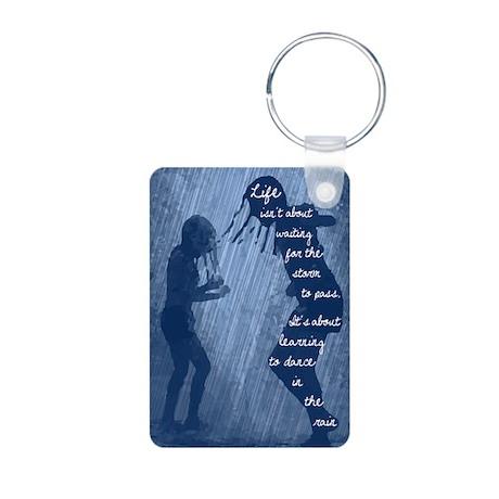 Dance in the Rain Aluminum Photo Keychain