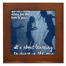 Dance in the Rain Framed Tile