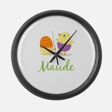 Easter Chick Maude Large Wall Clock