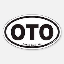 Otisco Lake OTO Euro Oval Decal