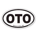 Otisco Lake OTO Euro Oval Sticker