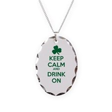 Keep Calm and Drink On Necklace
