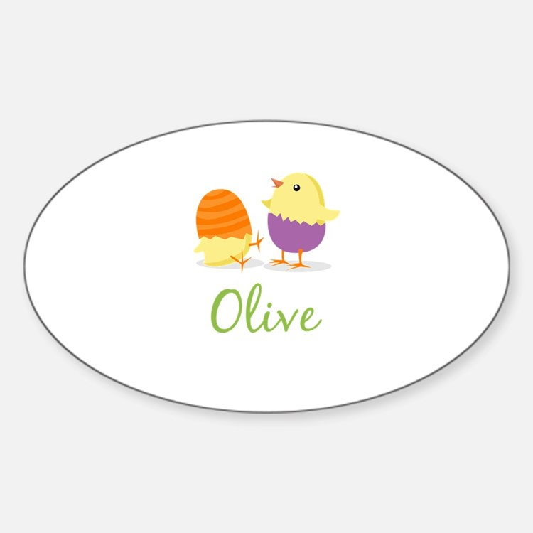 Easter Chick Olive Decal