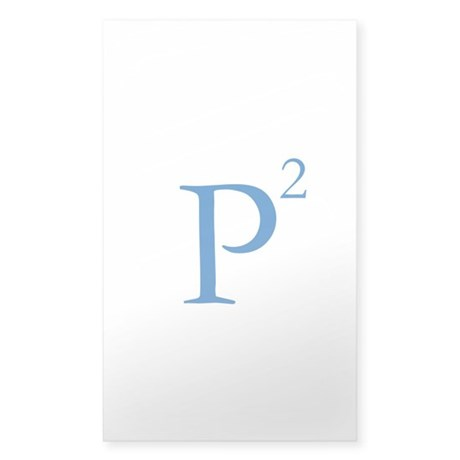 P Squared Logo Sticker