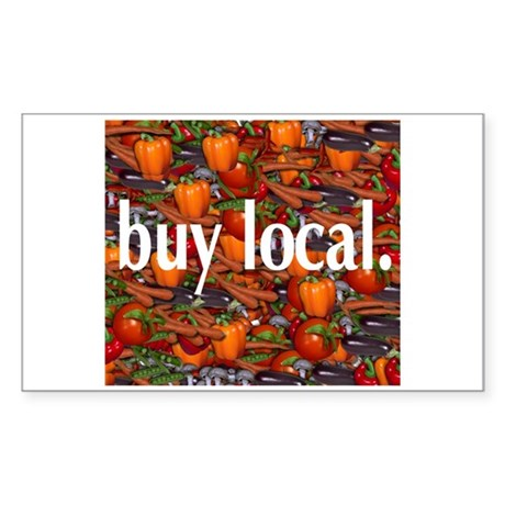 Buy Local. Rectangle Sticker