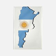 Argentina Flag Map Rectangle Magnet