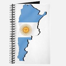 Argentina Flag Map Journal