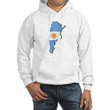 Argentina Flag Map Hoodie