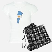 Argentina Flag Map Pajamas