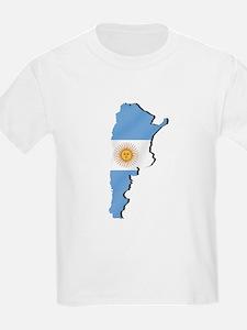 Argentina Flag Map T-Shirt