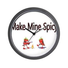 Make Mine Spicy Wall Clock