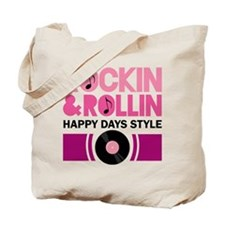 Happy Days Rock and Roll Tote Bag