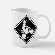 QUAD WHEELIE black placard Mug