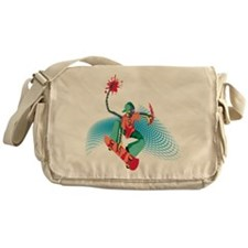skate by alien Messenger Bag