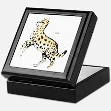 Serval African Wild Cat Keepsake Box