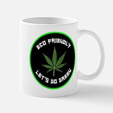 Eco Friendly Let's Go Green Marijuana Mug