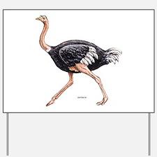 Ostrich Bird Animal Yard Sign