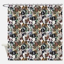 puppies and kittens Shower Curtain