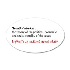 Feminism Defined Wall Decal