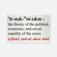 Feminism Defined Rectangle Magnet
