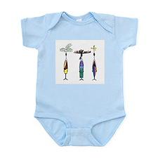 Tropical Ethnic Figures Infant Bodysuit
