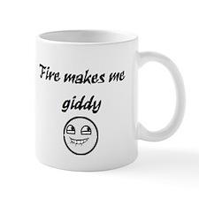 Fire Makes Me Giddy Mug