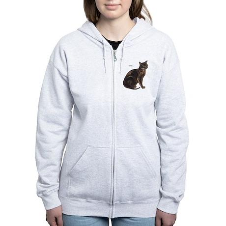Burmese Cat Women's Zip Hoodie