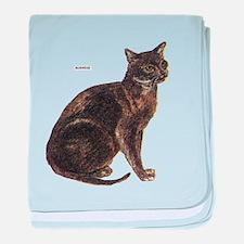 Burmese Cat baby blanket