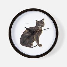 Burmese Cat Wall Clock