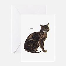 Burmese Cat Greeting Card