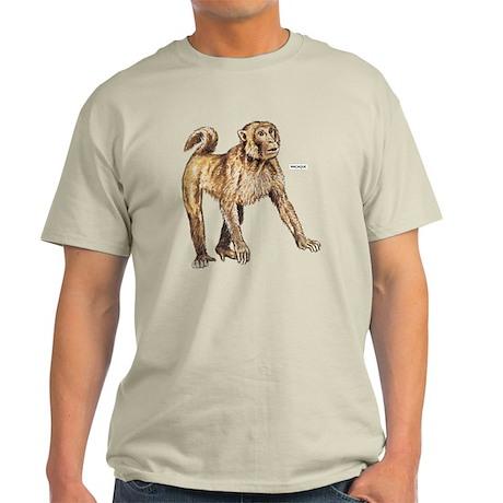 Macaque Monkey Ape Light T-Shirt