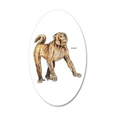 Macaque Monkey Ape Wall Decal