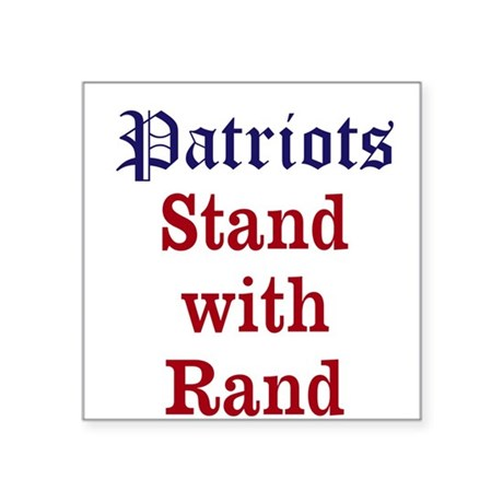 Patriots Stand With Rand Sticker